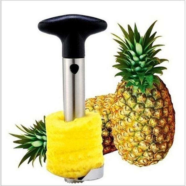 Steel, pineapplepeeler, ananaszester, easytouse