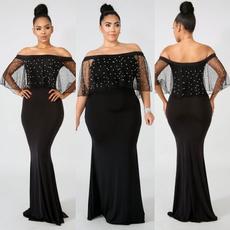 off the shoulder dress, party, Fashion, plus size dress