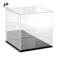 Transparent Acrylic Display Case Tray Dustproof Storage Show Box 40x20x20cm