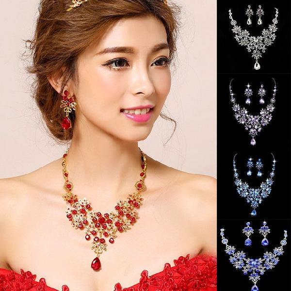 Fashion, Gifts, Crystal Jewelry, wedding earrings