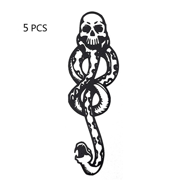 5x Dark Mark Toys Tattoos For Cosplay Accessories Dance Arm Art MakeUp NICA