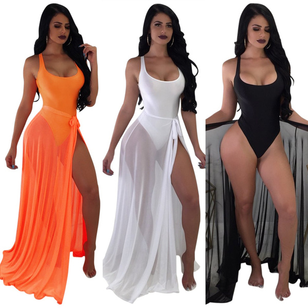 Summer, Fashion, bathing suit cover ups, Scoop neck