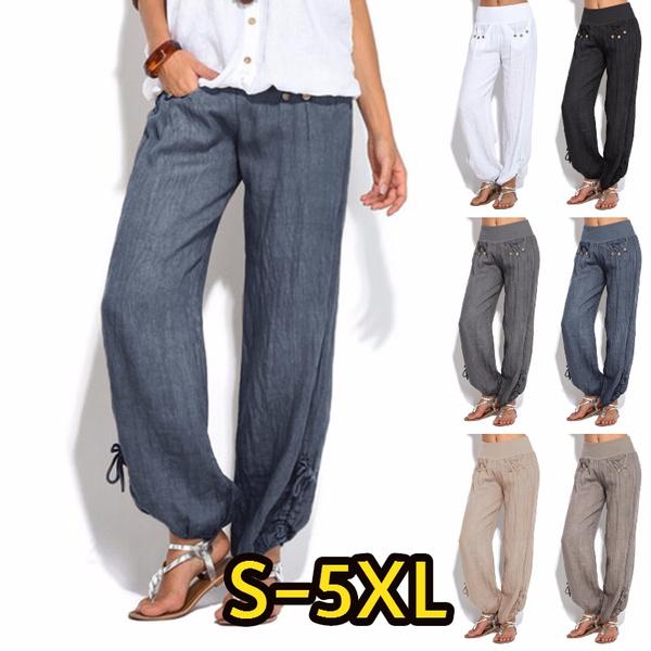 Women Pants, elastic waist, Yoga, Casual pants