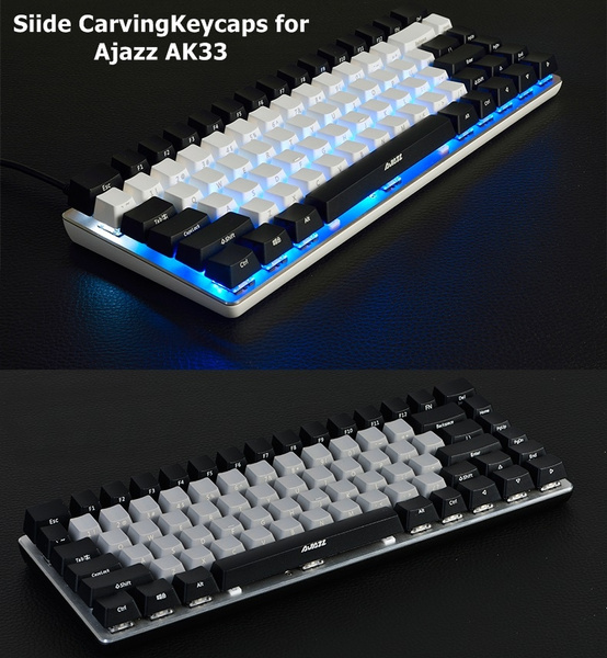 New Abs Side Carving Keycaps For Mechanical Keyboard For Ajazz Ak33 With Optional Black Gray And White Colors Wish