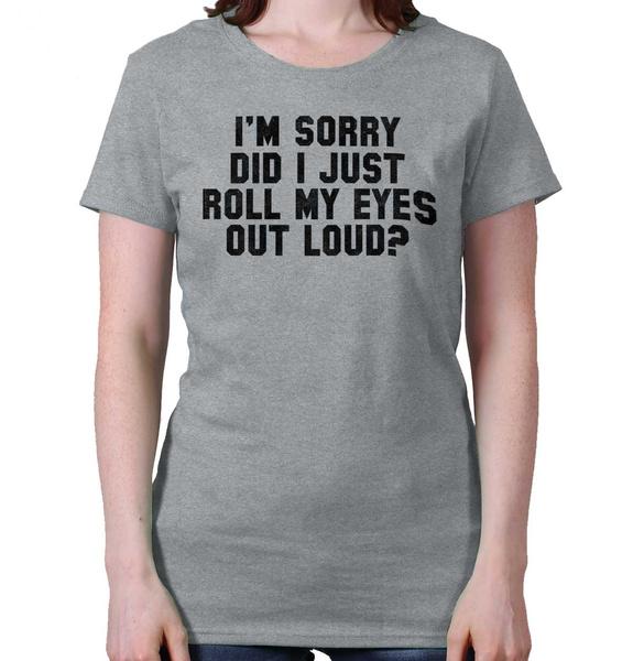 Funny, Fashion, eye, sarcastictprintedtshirt