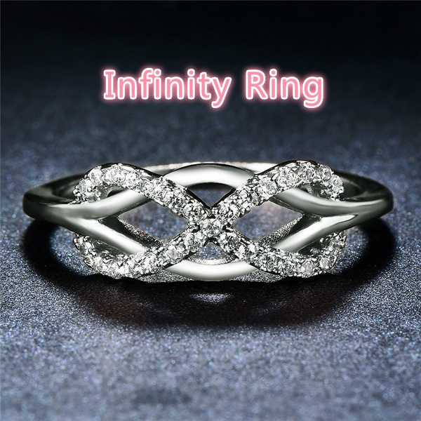 Sterling, Engagement, Infinity, wedding ring