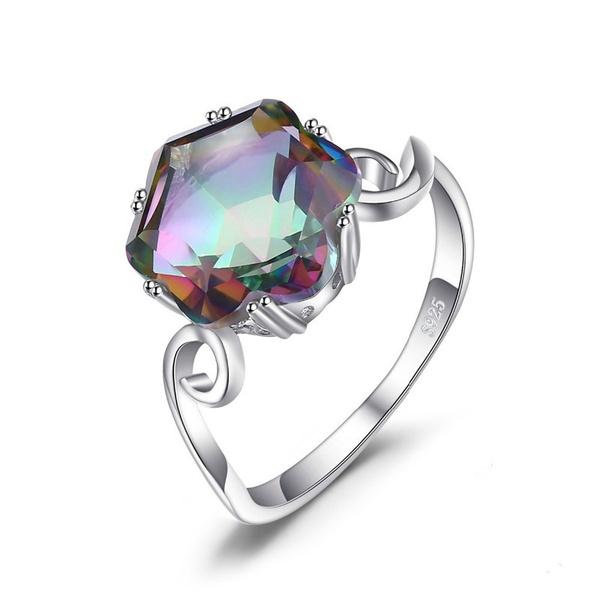 Sterling, rainbow, Genuine, Jewelry