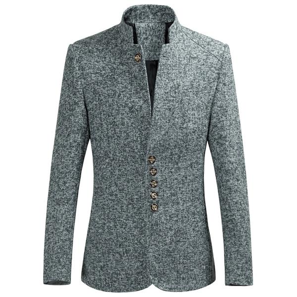 Stand Collar, slim, Men's Fashion, collarsuit