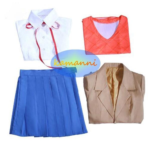Doki Doki Literature Club Natsuki Monika Cosplay Costume School Uniform Dress