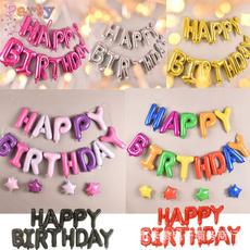 happybirthday, Decor, Aluminum, birthdayballoon