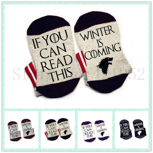 ifyoucanreadsock, wintersock, Cotton Socks, Winter