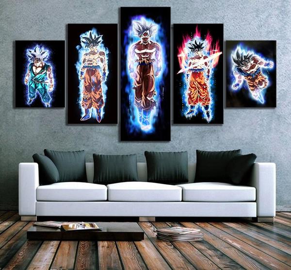 paintingsforlivingroom, Home Decor, Posters, Dragonball