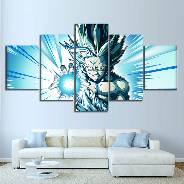 Dragon Ball Characters Anime 5 Piece Canvas Print Poster HOME DECOR Wall Art