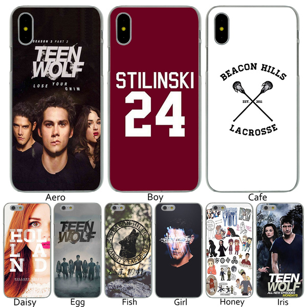 B97 Stilinski 24 Teen Wolf fashion Hard Transparent Phone Shell Case for iPhone 8 7 6 6s Plus 5 5S SE 5C 4 4S 10 Cover for Apple iPhone X XR XS Max ...
