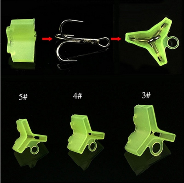 10//50Pcs Durable Fishing Treble Hooks Jig Covers Case Bonnets Caps ProtectorYYY