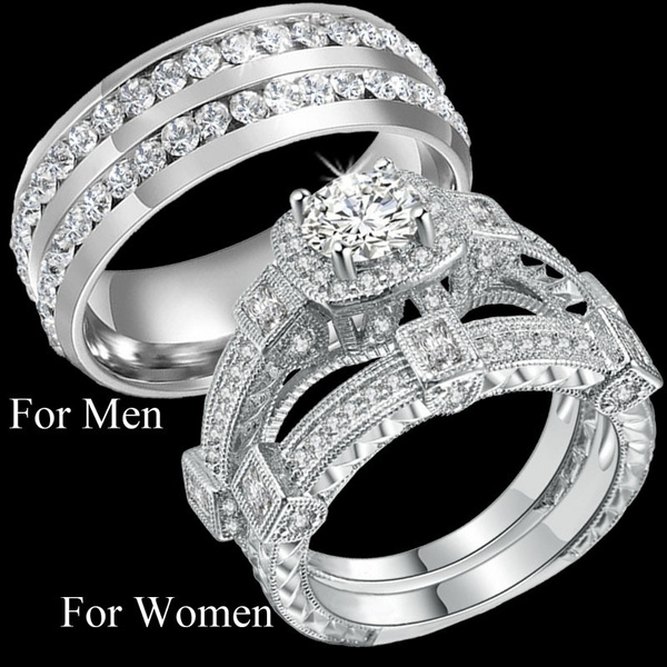 Steel, loversgift, hisandhersring, Jewelry
