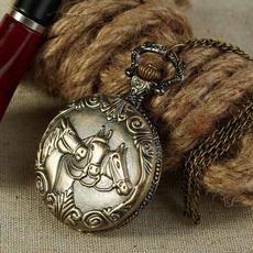 Antique, Pocket Watches, Chain Necklace, quartz