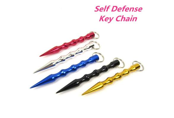 EDC Solid Brass Survival Self-defense Tool Breaker Key Chain Happy Unhappy Tool