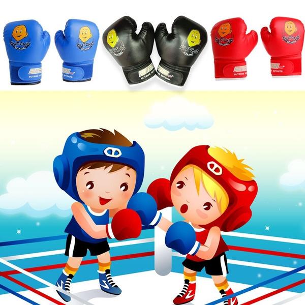 1pair Kids Children Sanda Boxing Fight Kids Training Fighting Kick Cartoon Gloves For Age 3 12 Wish