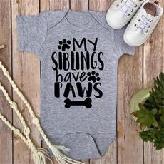 Shorts, babyromper, letter print, sunsuit