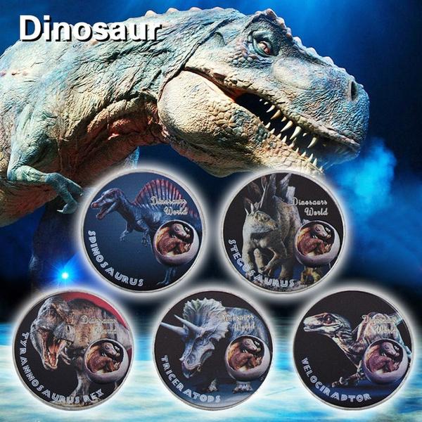 dinosaursilvercoin, primitiveanimal, Gifts, souvenirgift