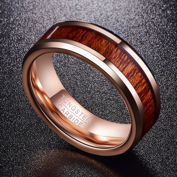 goldplated, tungstenring, polished, wedding ring