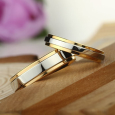 Couple Rings, wedding ring, gold, Simple