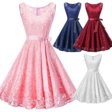Summer, pleated dress, Lace, Pins