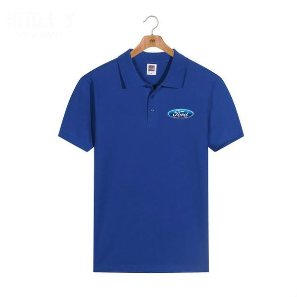 Summer, advertisingshirt, lapeltshirt, Cotton T Shirt