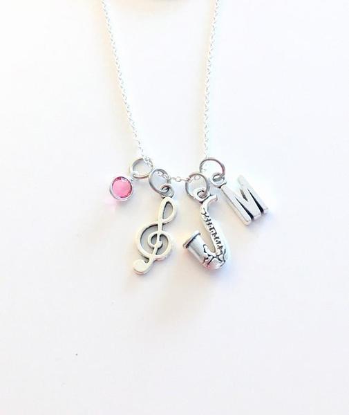 Personalized necklace, Jazz, trebleclef, Jewelry
