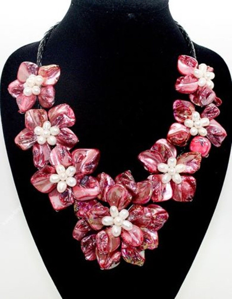 Flowers, Jewelry, pearls, Pendant