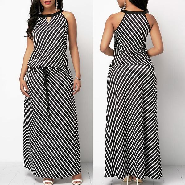 Summer, long skirt, Plus Size, elasticwaiste