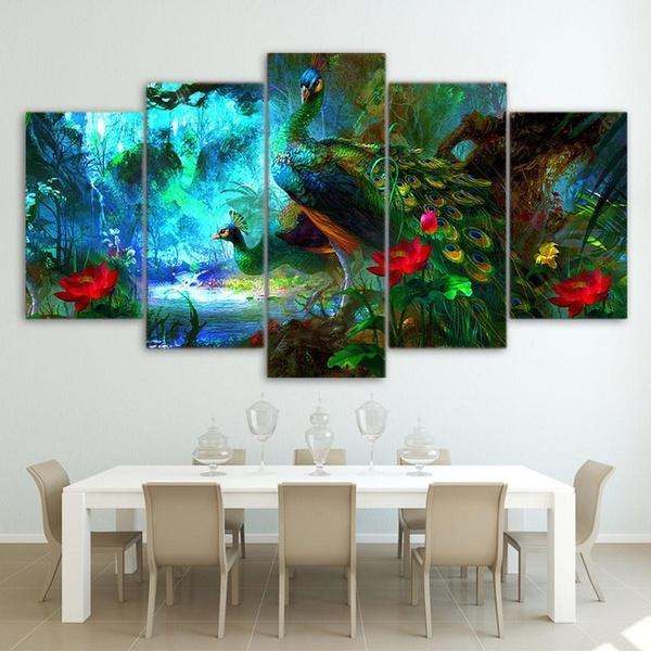 peacock, Decor, art, Home Decor