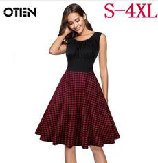 fashion women, Plus Size, pleated dress, Pins