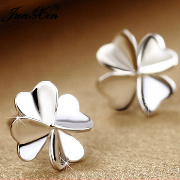 silverearirng, cute, Silver Jewelry, Flowers