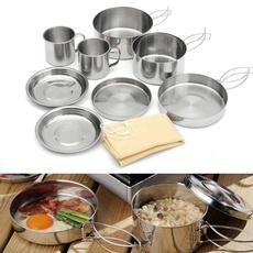 campfirecookware, Steel, bowlpotpanset, campingcookwaredinnerware