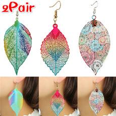 Dangle Earring, Jewelry, rose gold earrings, leafjewelry
