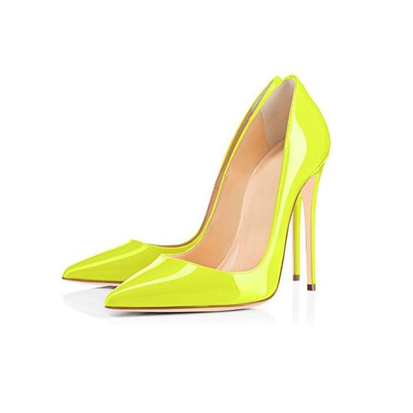 Fluorescent yellow High Heels Shoes