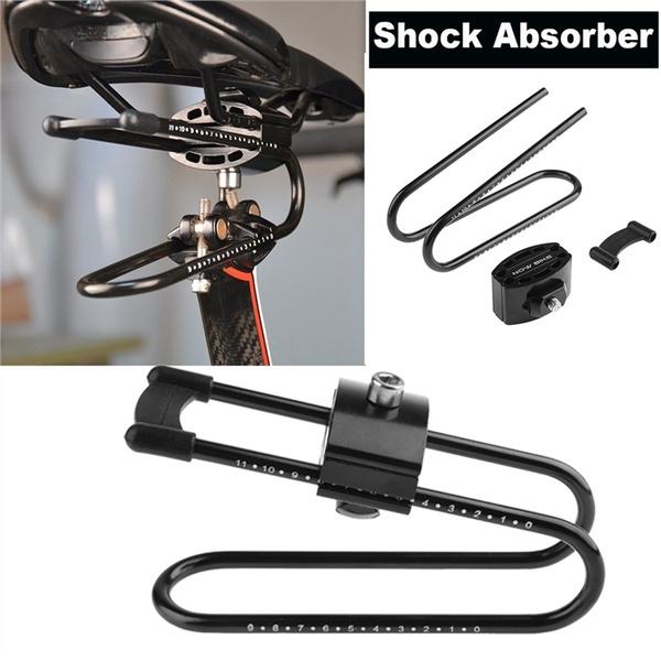 Bike Shocks Saddle Suspension Seat Shock Absorber Alloy Spring Steel Adjustable