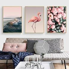 pink, pinkroseflower, flamingo, Wall Art