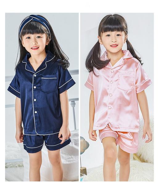 pajamaset, silk, Sleeve, sleepwearset
