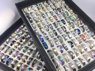 Steel, Stainless, Moda, wedding ring