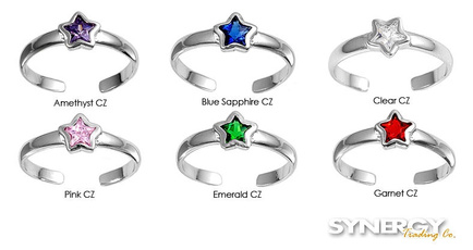 Sterling, adjustablering, Fashion, Star