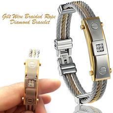 Steel, wirebraidedrope, Jewelry, Gifts