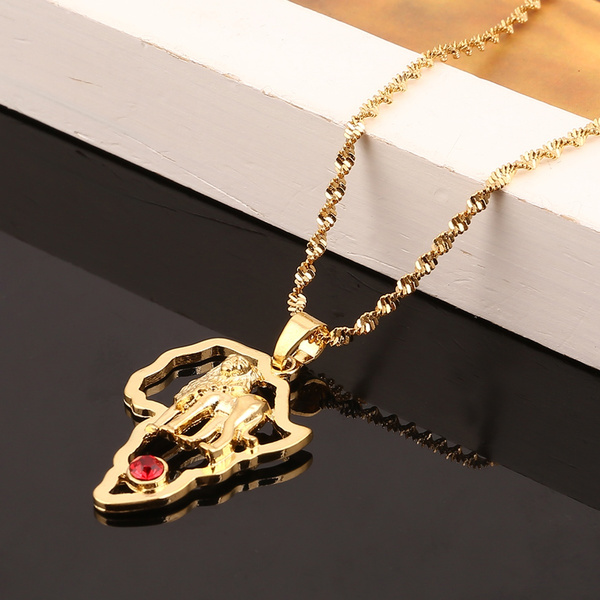 trendy necklace, cutenecklace, gold, mapofafricanecklace