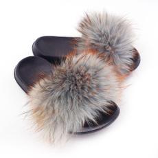 Summer, Sandals, fur, foxfur