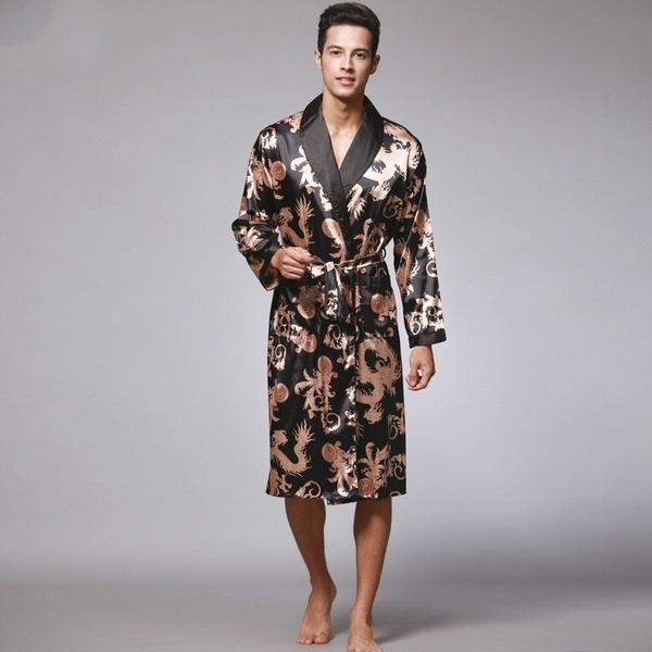silkrobe, kimonobathrobe, silk, mensbathrobe