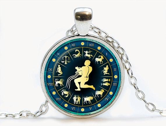 zodiacnecklace, Jewelry, Gifts, Glass