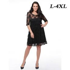 summer dress, Lace, chiffon, Sleeve