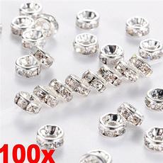 8MM, Jewelry, spacerbeadshole, Beauty